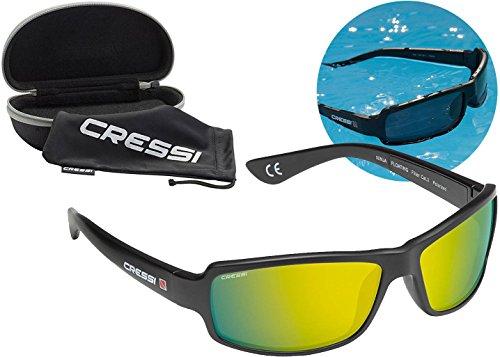 (Cressi Ninja Floating TAC Polarized Wrap Around Sport Sunglasses Unsinkable, Yellow)