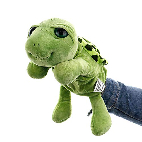 KOSSJAA Hand Puppets for Kids Animal Puppets Girls Plush Toys Glove Puppets Storytelling Toy Game Ro (A Turtle)