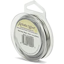 Artistic Wire 20-Gauge, Stainless Steel, 15-Yard