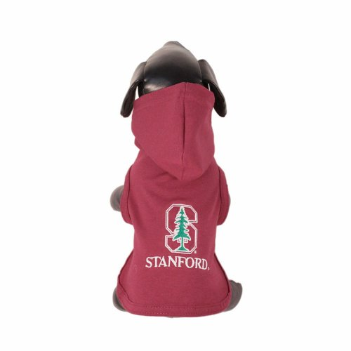 NCAA Stanford Cardinal Cotton Lycra Hooded Dog Shirt, X-Small