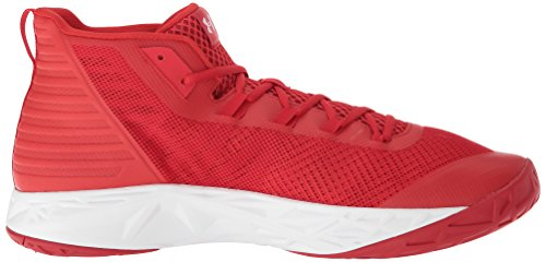 white Basketball Under Mid red De Chaussures Jet Rouge Homme Armour Ua rvqwY7xvA