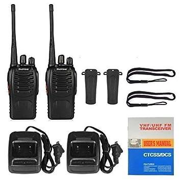 RFV1(tm) BF-888S UHF 400-470MHz CTCSS/DCS with Earpiece Handheld Amateur Radio Tranceiver Walkie Talkie Two Way Radio Long Range Black 2 Pack Walkie Talkies at amazon