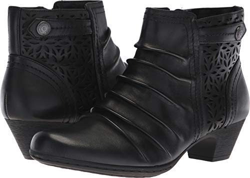 - Rockport Women's Brynn Panel Boot Ankle, Black, 6.5 M US
