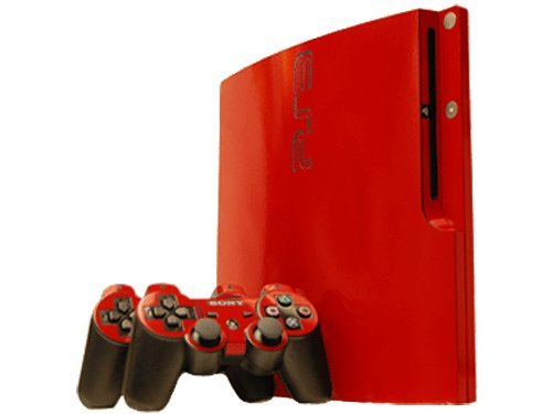 Sony PlayStation 3 Slim Skin (PS3 Slim) - NEW - ROCKIN RED system skins faceplate decal mod by System Skins