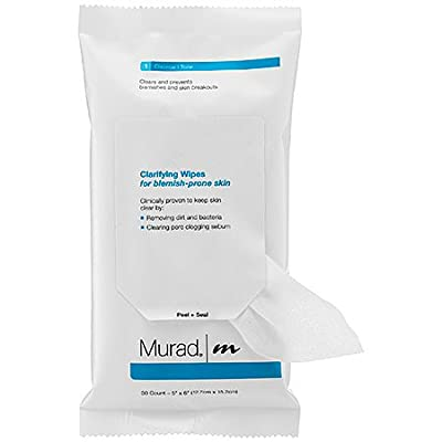 Murad Clarifying Wipes for Blemish Prone Skin, 30 Count