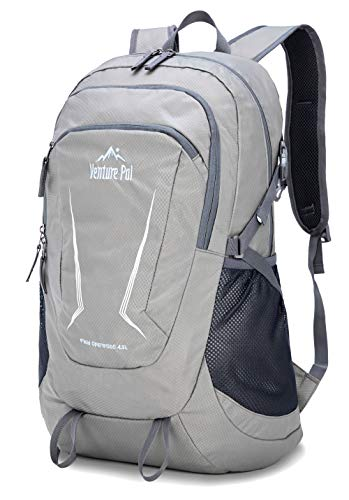 Venture Pal Large 45L Hiking Backpack - Packable Lightweight Travel Backpack Daypack for Women Men (Grey)