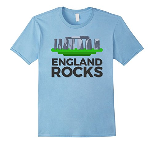 Mens Stonehenge Great Britain England Rocks T Shirt Small Baby Blue