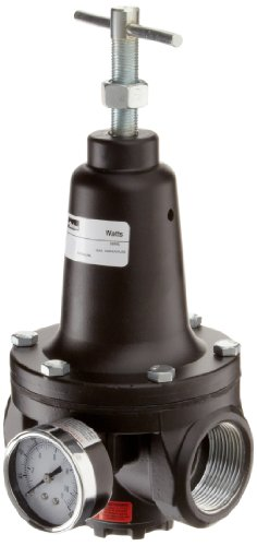 Parker R119-12CG Regulator, 0-125 psi Pressure Range, Gauge, 500 scfm, 1-1/2'' NPT by Parker