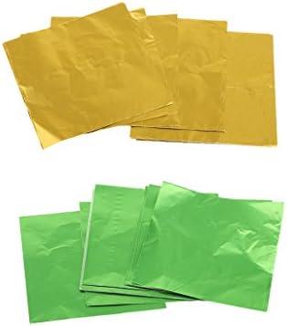 ラッパー パッケージ用紙 アルミニウム錫箔 包装用紙 チョコ/キャンディー/お菓子 約200枚
