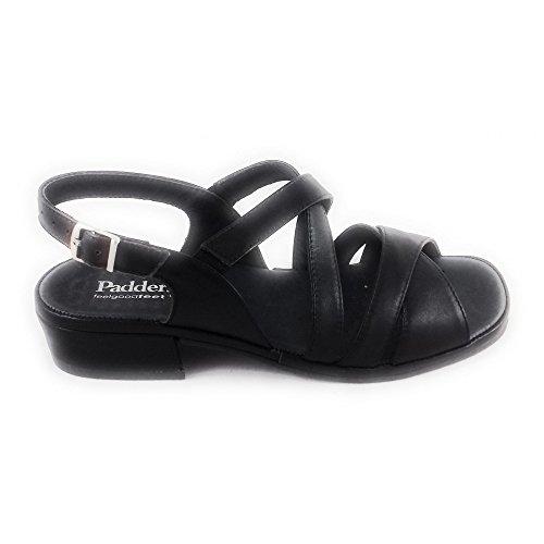 Mujer De Sandalias Vestir Negro Padders Para qF4wTII