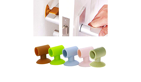 0161 4 Color Rubber Shock Pad Door Wall Room Handle Crash Pad Protective