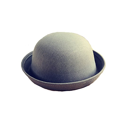 Wool Felt Cloche Derby Bowler Hat