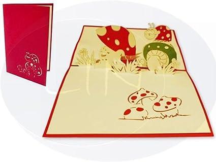 Gute Besserung Karte Diy.Lin Pop Up Grusskarten 3d Karten Dankeskarten Gute Besserung Geburtstagskarten Marienkafer
