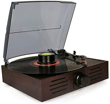 ALIZJJ レコードプレーヤーターンテーブルワイヤレスポータブル蓄音機LP 3高速ベルトドライブターンテーブルレコードプレーヤーオーディオヴィンテージ多機能プレーヤーラジオを受信します
