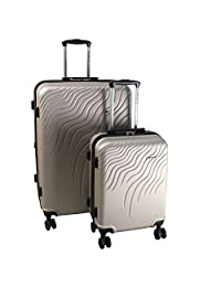 """RENWICK 2-Piece Rolling Hardside 18"""" Carry On and 28"""" Luggage Set"""
