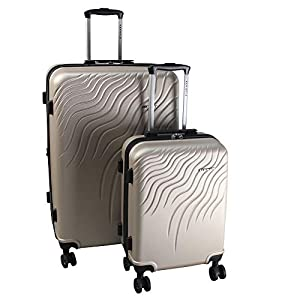 RENWICK 2-Piece Rolling Carry On and Luggage Set