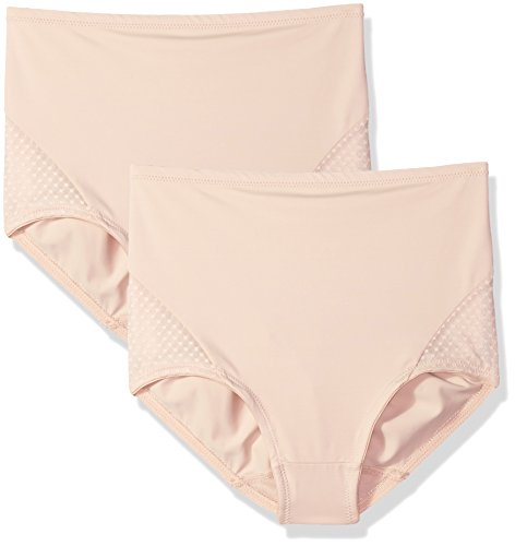 Bali Women's Passion for Comfort 2-Pack Shaping Brief, Soft Taupe/Soft Taupe, - Lace Brief Shaping