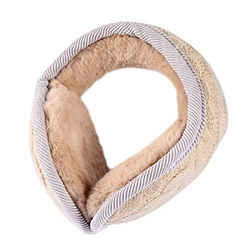 SEADEAR Unisex Accessory Outdoor Thick Foldable Knitted Twist Earmuffs Ear Warmer ()
