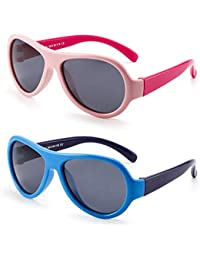 Kids Rubber Polarized Sunglasses Unbreakable Children...
