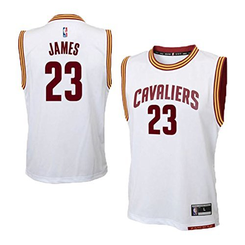 Lebron James Cleveland Cavaliers White Home Replica Youth Jersey (X-Large 18/20)
