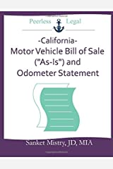 """California Motor Vehicle  Bill of Sale (""""As-Is"""") and Odometer Statement Paperback"""