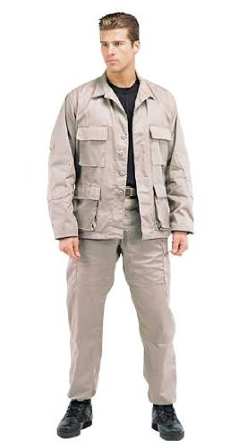 Rothco BDU Shirt, Khaki, X-Large