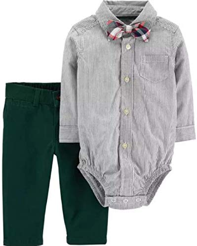 Carter's Baby Boys 3-Piece Striped Dress Me Up Set with Bow Tie, 3 Months