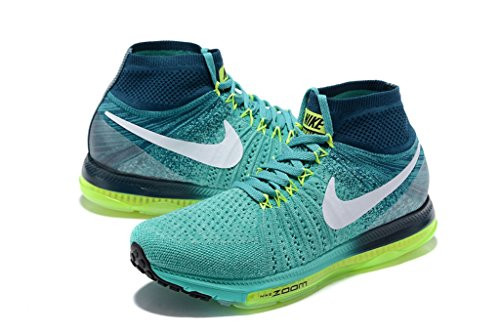 Nike Womens Wmns Zoome Ut Flyknit, Klar Jade / Hvitt-midnatt Turq-volt, 7 Oss