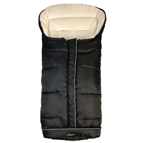Water/Wind/Snow Proof,Oudtoor Walking Univeral Stroller Bunting Bag with Reflective Strips to Keep Baby Safe,Multi-zippers,Central and Feet Area Opens,Easy for Baby in&out, Comfortable Warm for Winter