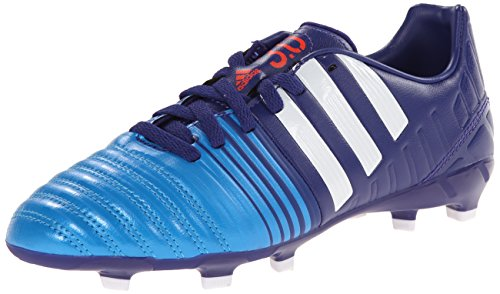 Price comparison product image adidas Performance Nitrocharge 3.0 Firm-Ground J Soccer Cleat (Big Kid), Amazon Purple Running White/Solar Blue/Pink Soft, 4.5 M US Big Kid