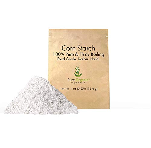 Corn Starch (4 oz.) by Pure Organic Ingredients, Thickener For Sauces, Soup, & Gravy, Highest Quality, Kosher, USP & Food Grade, Vegan, Gluten-Free, Eco-Friendly (Also in 8 oz,1 lb, 2 lb, & 3 lb)