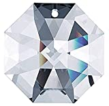 Swarovski Strass Crystal Octagon Lily with Lazer Logo Etched 60mm 1 Hole # 8115-60