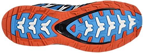 Salomon L39185700, Zapatillas De Trail Running para Hombre Azul (Scuba Blue /     Black /     Tomato Red)