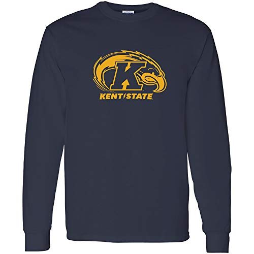AL02 - Kent State Golden Flashes Primary Logo Long Sleeve - Medium - Navy