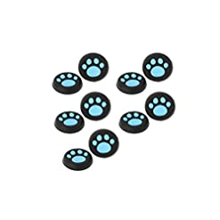 Doyime Pack of 4 Silicone Cap Thumb Stick Joystick Grip Cover For Sony PS4 PS3 Xbox 360 Xbox one Controller wireless-Blue