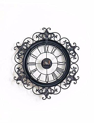 SUNQIAN-American retro creative decorative clocks. The wall clock clock. The clock iron carving. by SUNQIAN