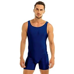 YiZYiF Maillots de Corps Homme Body Débardeur Gilet Sport Fitness Justaucorps de Danse Gymnastique Combinaison sans Manches Bodysuit Jogging Salopette M-XL accessoires de fitness [tag]