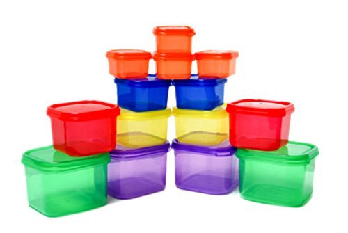 Portion Control Containers - Double Set with Lids - 14 pieces - Perfect use for 21 Day Challenge and Meal Prep - For Weight Loss and Diet Program