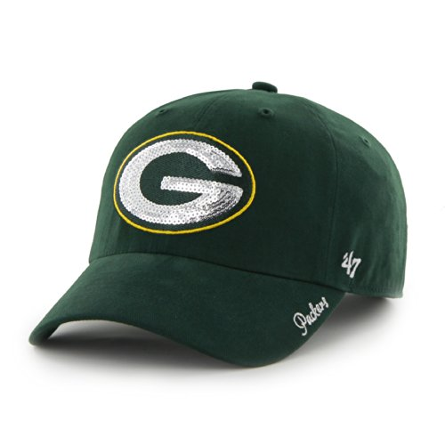 NFL Green Bay Packers Womens Sparkle Team Color, Dark Green