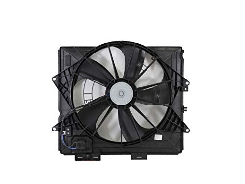 Dual Radiator and Condenser Fan Assembly - Cooling Direct For/Fit GM3115253 09-13 Cadillac CTS Sedan 10-15 CTS Coupe/Wagon 09-11 SRX/STS WITHOUT Tow Package WITH Resistor ()