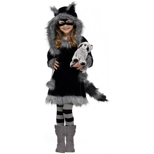 Cute Unique Toddler Halloween Costumes (Fun World Costumes Baby Girl's Sweet Raccoon Toddler Costume, Black/Grey, Small)