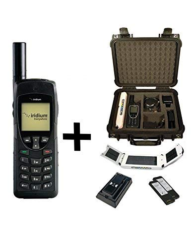Iridium Phone Satellite - SatPhoneStore Iridium 9555 Satellite Phone Emergency Responder Package with Pelican Case, Solar Charger, Charging Dock, Extra Battery & Blank Prepaid SIM Card Ready for Easy Activation
