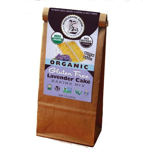 Wholesome Chow Organic Gluten Free Cake Mix, Chocolate Lavender, 11.7 Ounce