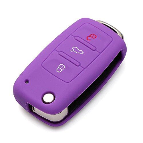 (JessicaAlba Remote Flip Key FOB Silicone Case Cover for Volkswagen VW POLO Tiguan Passat B5 B6 B7 Golf EOS Scirocco Jetta MK5 MK6 Skoda Octavia A5 Superb Fabia Rapid Citigo Yeti)