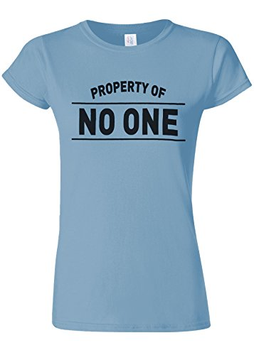 しかしながらセレナ下るProperty Of No One Novelty Light Blue Women T Shirt Top-M