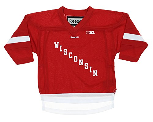 (Wisconsin Badgers NCAA Little Boys Toddler Replica Hockey Jersey, Red)