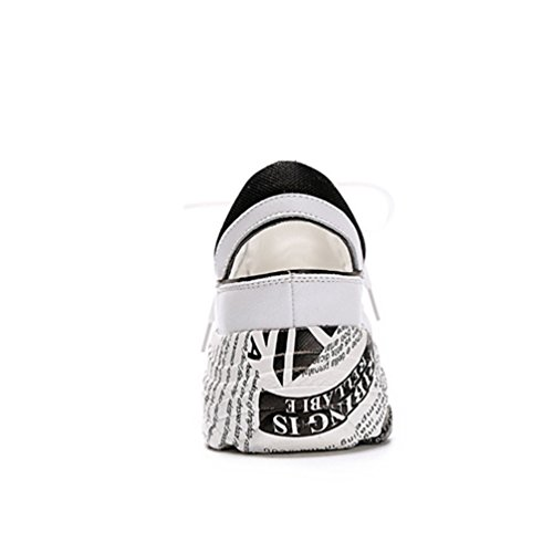 Confort Sneakers Baskets Chaussures Sports de Loisir Femme Casuel Cuir Antidérapante Multicolore Mode wz07Izq