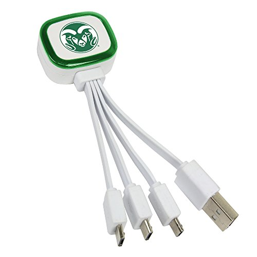 Colorado State Rams Tri-Charge USB Cable by QuikVolt