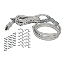 American Lighting 120-TL60-3-WH 120-volt 5000K LED Tape-Rope Hybrid Lighting Kit with 5-Foot Cord and Mounting Hardware, 3-Foot, Bright White