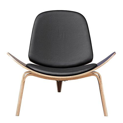 Designer Modern Wegner Shell Chair Black